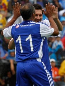 Romario et Messi