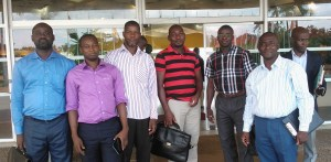 Quelques membres du BEN accompagnés du Président du Comité Scientifique du séminaire nationa