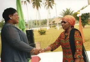 Madame la Ministre de la Famille et Madame Aboidji